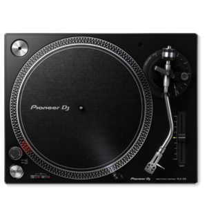 "alt=""Gira-Discos PLX-500 da Pioneer DJ na cor preto"""