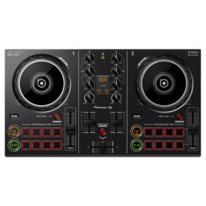"""alt=""""Controlador DDJ-200 da Pioneer DJ na cor preto"""""""