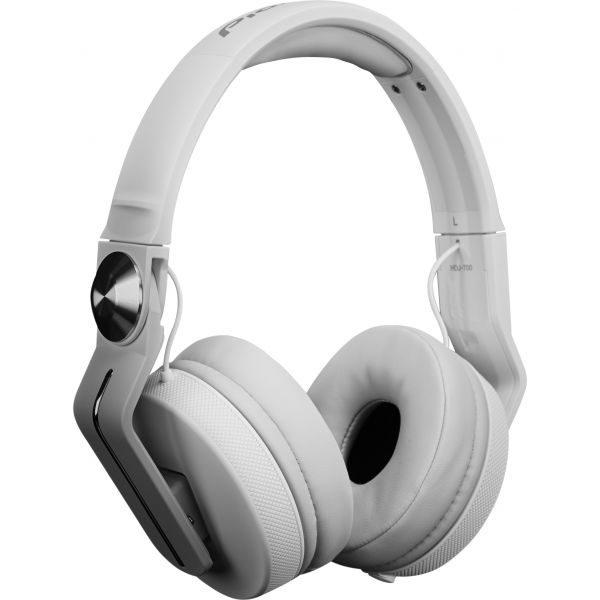 "alt=""Auscultadores HDJ-700 da Pioneer DJ na cor branco"""